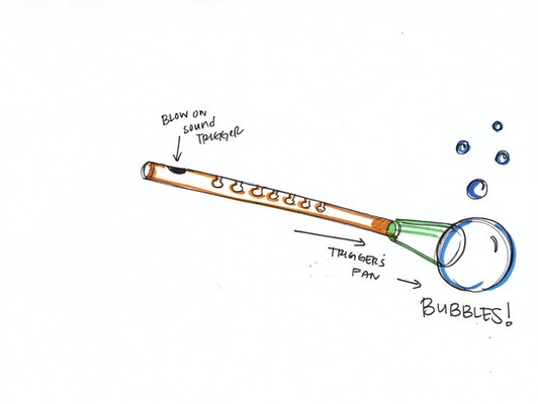 Bubble flute