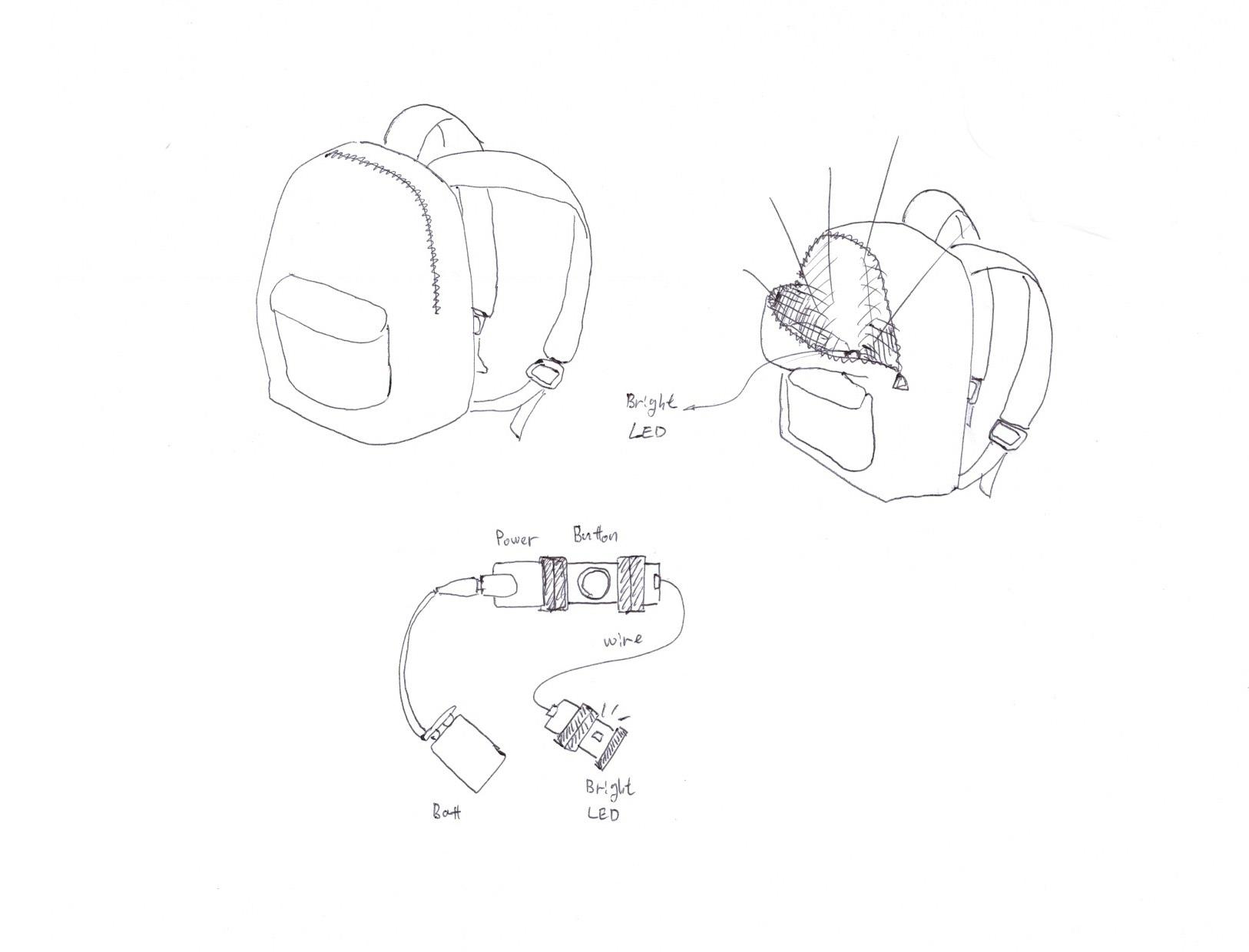 Back pack light sketch