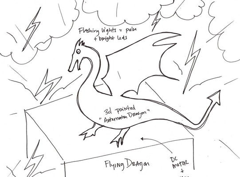 Large dragon sketch