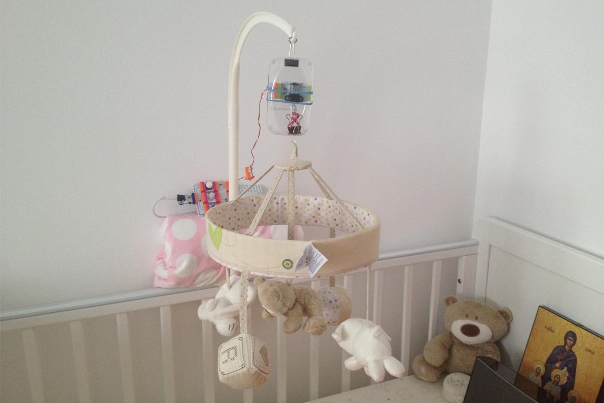 Sound u0026 Motion Activated Baby Mobile: a littleBits Project by Mike