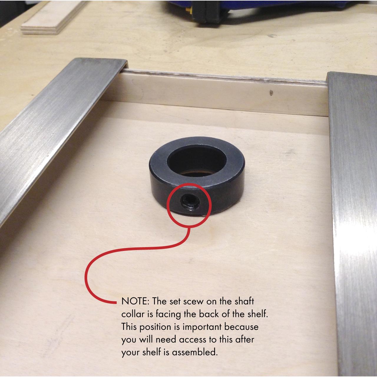 5 shaft collar orientation