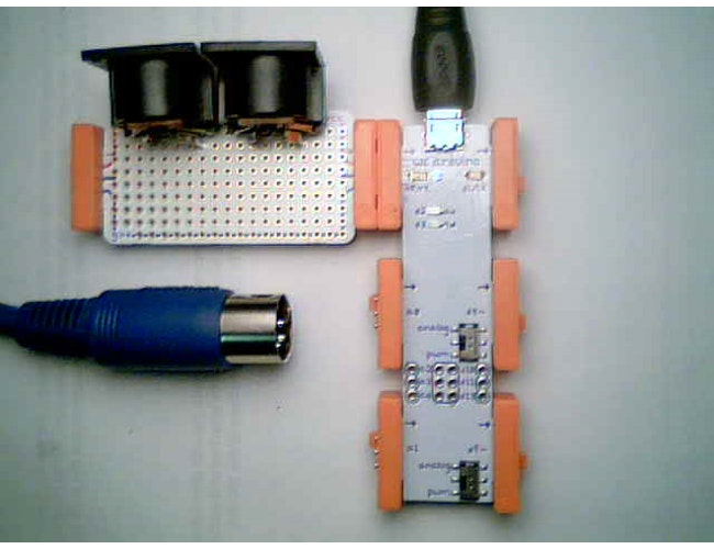 Midi interface for arduino a littlebits project by