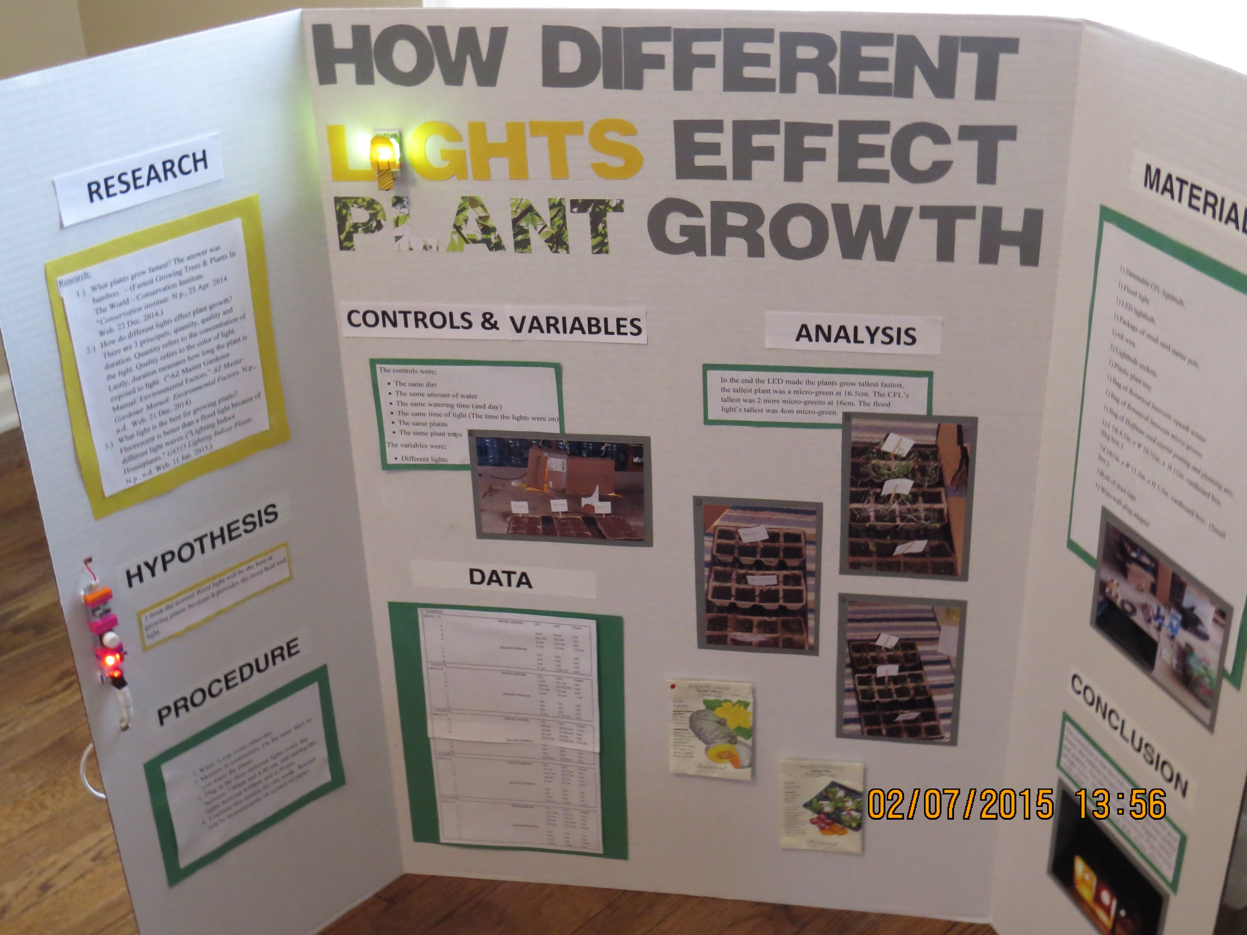 poster for science fair