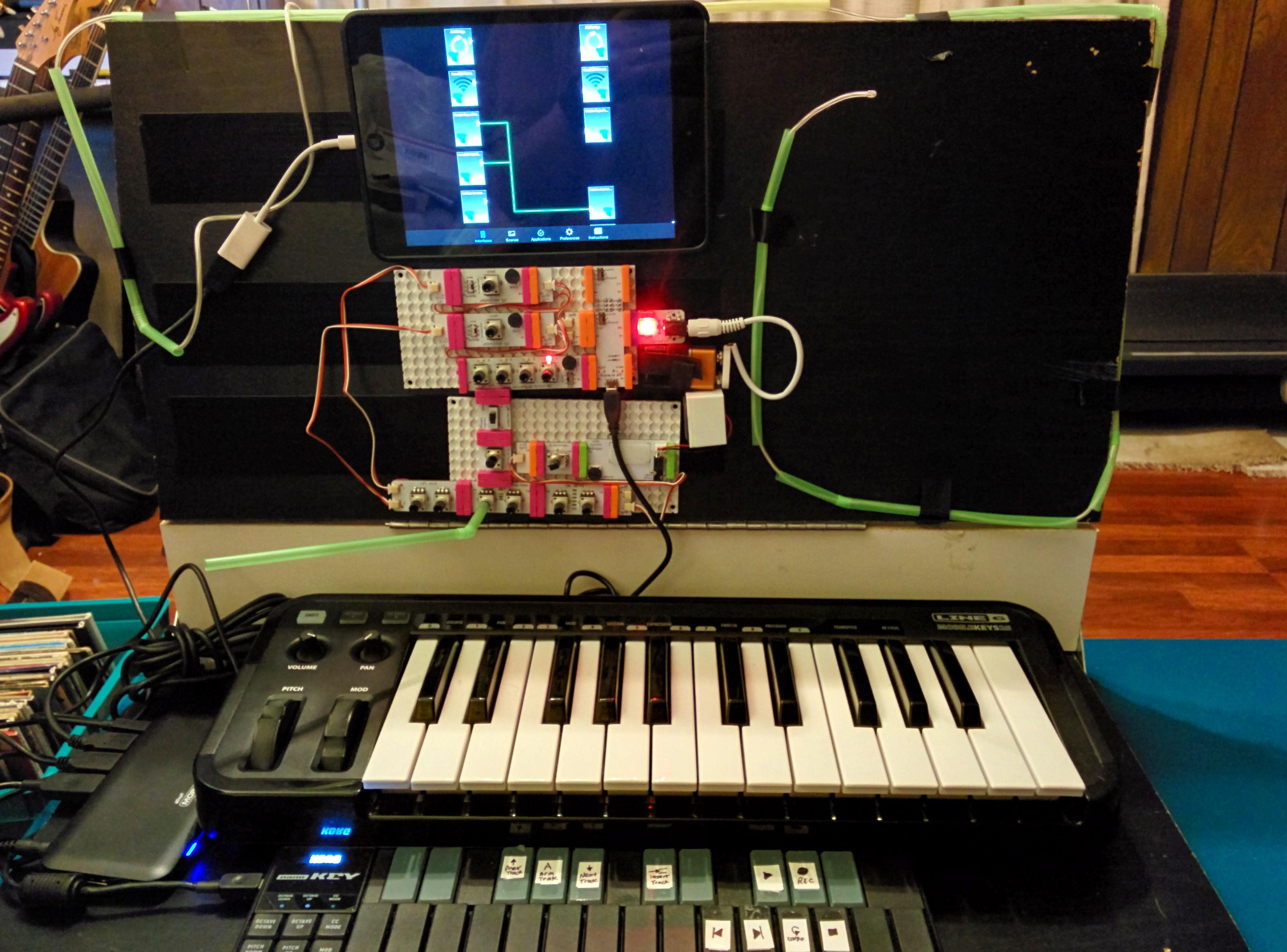 Arduino midi synth with lfo portamento and pitch wheel
