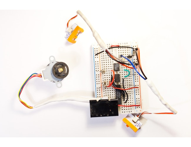 Stepper motor work in progress a littlebits project by for How does a stepper motor work