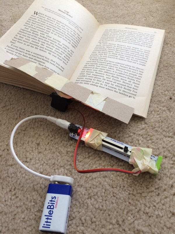 Book Page Holder: a littleBits Project by Lucille LittleBits