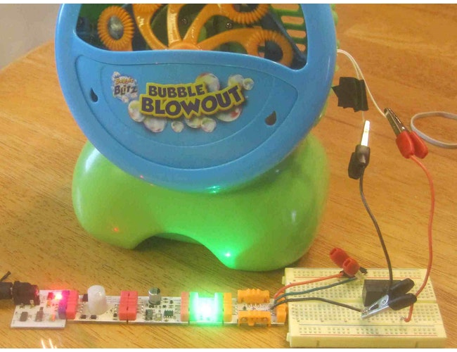 Bubble Machine Hack: a littleBits Project by JackANDJude
