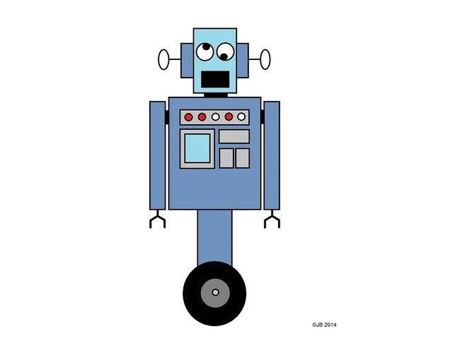 Babbling robot small square 900x600