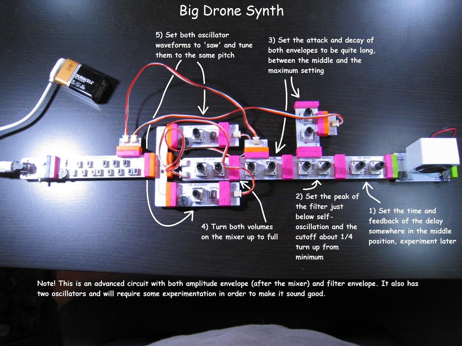 Big drone synth