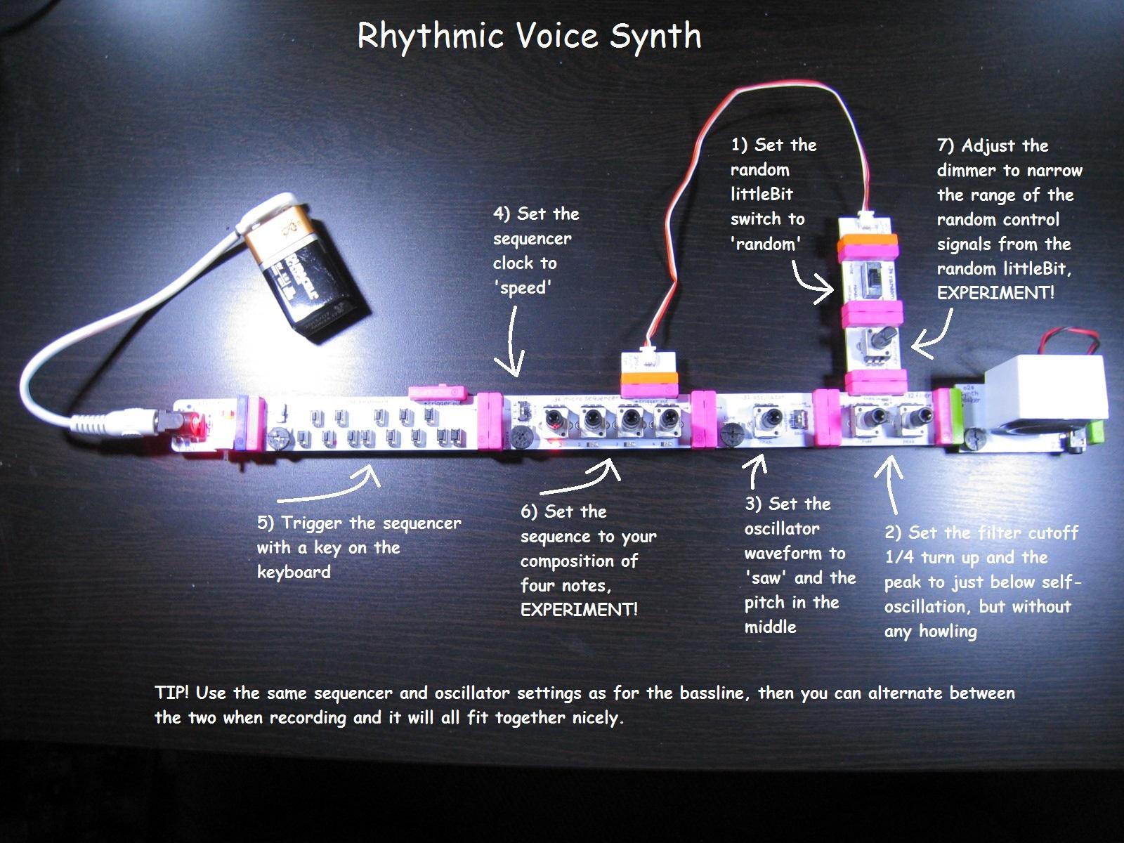 Rhythmic voice synth