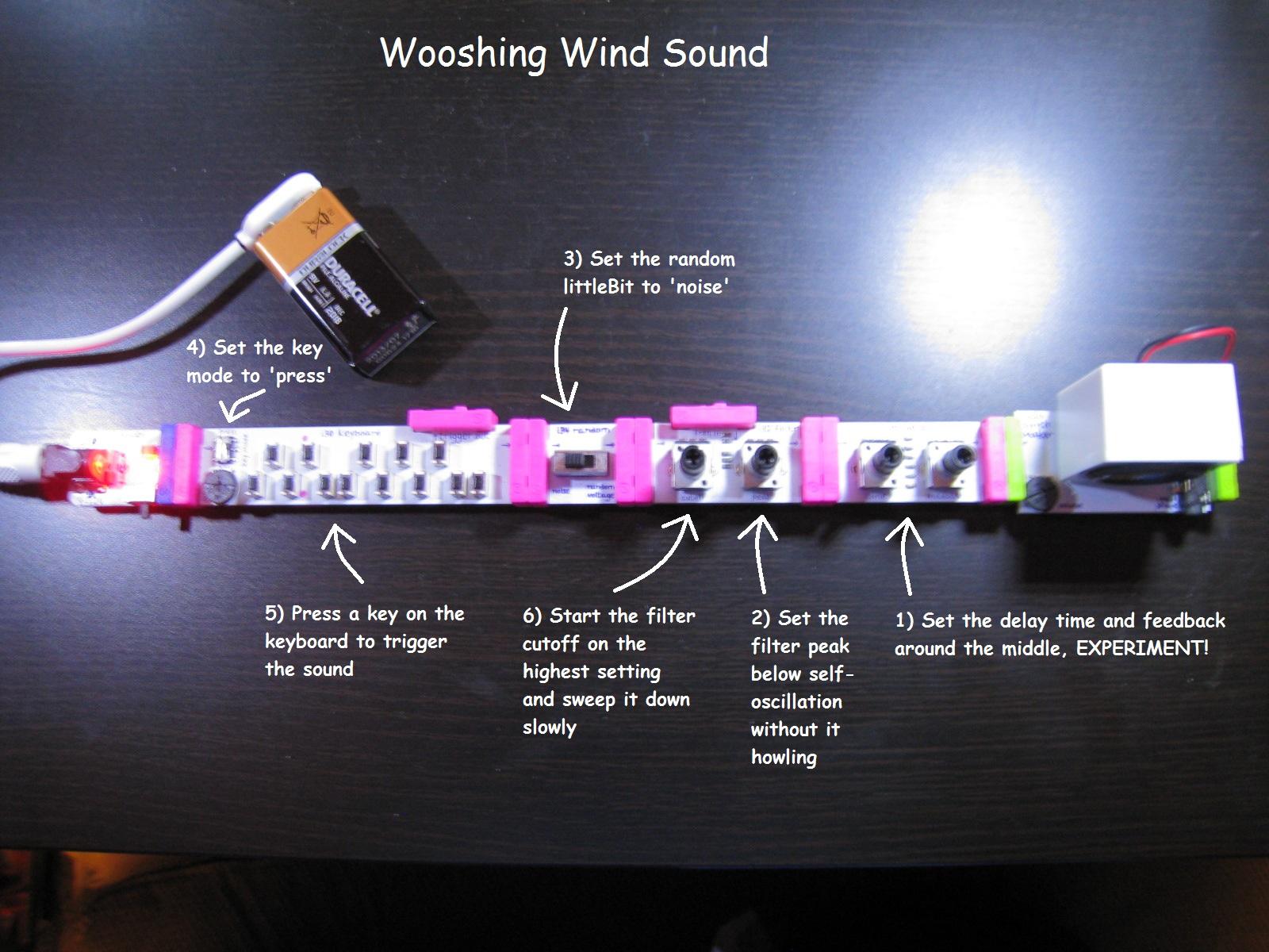 Wooshing wind sound