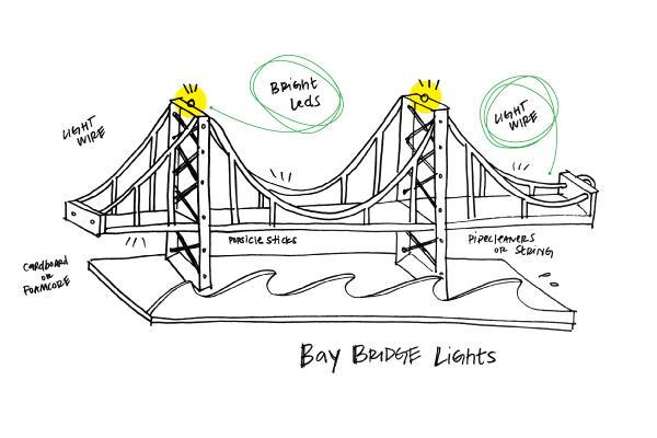 bay bridge lights   a littlebits project by littlebits