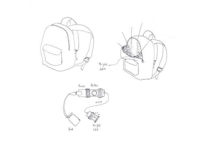 Back pack light sketch
