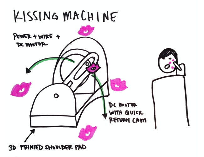 Kissing machine