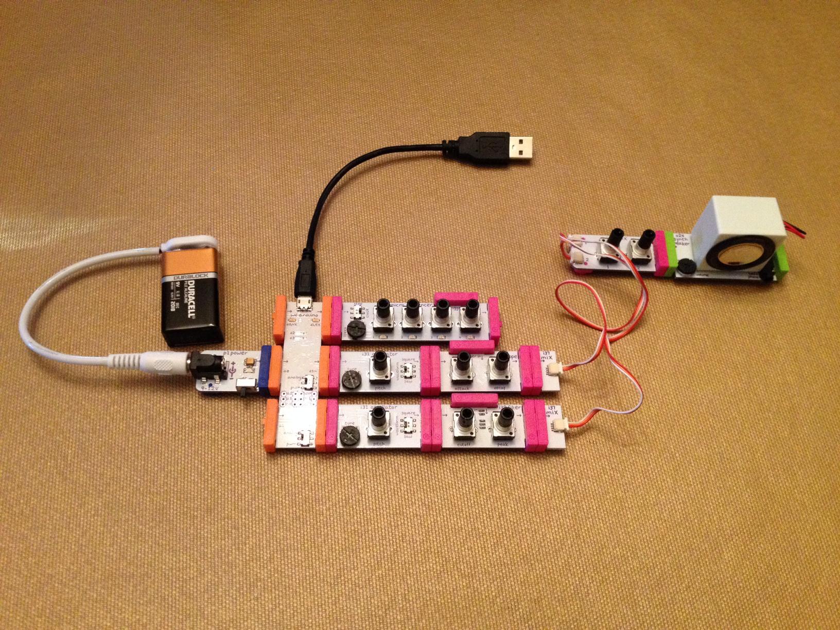 Arduino MIDI Interface for littleBits Korg Synth Kit: a