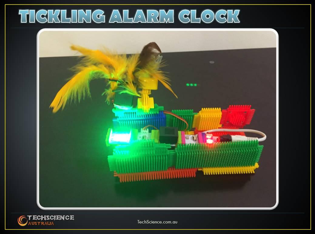Techscience littlebits project   tickling alarm clock