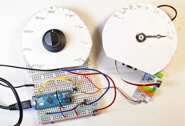 Daily Functional Analog Clock: a littleBits Project by chris101